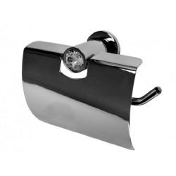 Wieszak na papier toaletowy z osłoną Swarovski Elements BD-355SV
