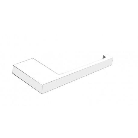 Plan biały wieszak na papier toaletowy prosty 2105-01-50