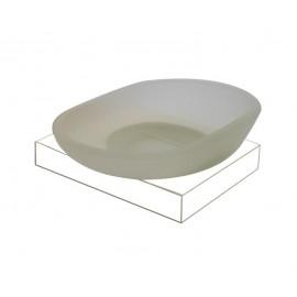 Plan white glass soap dish 2108-00-50