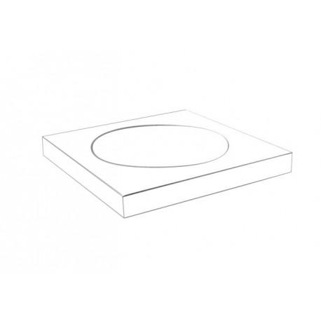 Plan white soap dish 2108-01-50