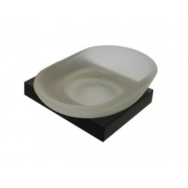 Plan black glass soap dish 2108-00-40