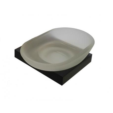 Plan black glass soap dish 2108-00-40