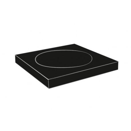 Plan black soap dish 2108-01-40