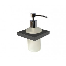 Plan black glass soap dispenser 2188-00-40