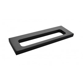 Plan black single towel rack 35cm 2124-35-40