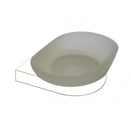 Loft biały mydelniczka szklana 908-00-50