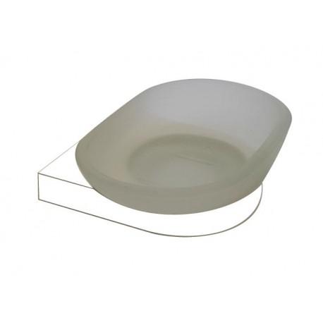 Loft white glass soap dish 908-00-50