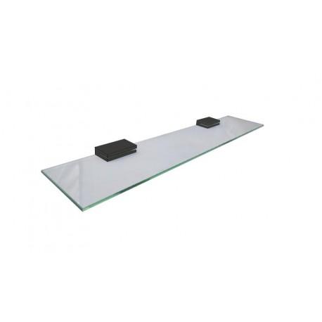 Loft black rectangular glass shelf 60cm 902-01-40