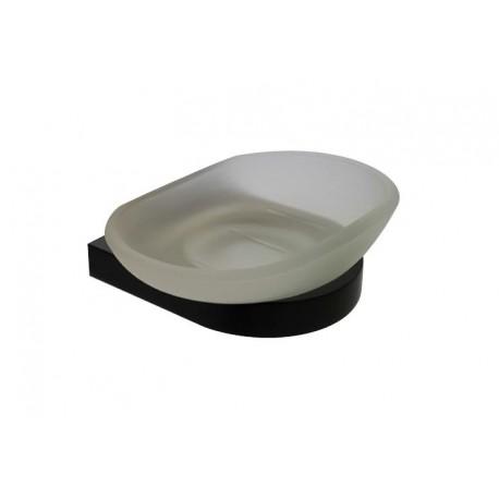 Loft black glass soap dish 908-00-40