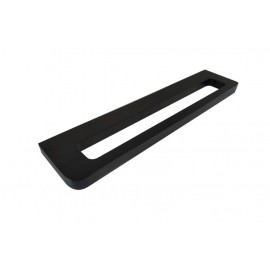 Loft black single towel rack 35cm 924-35-40