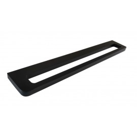 Loft black single towel rack 50cm 924-50-40