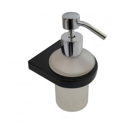 Loft black glass soap dispenser 988-00-40